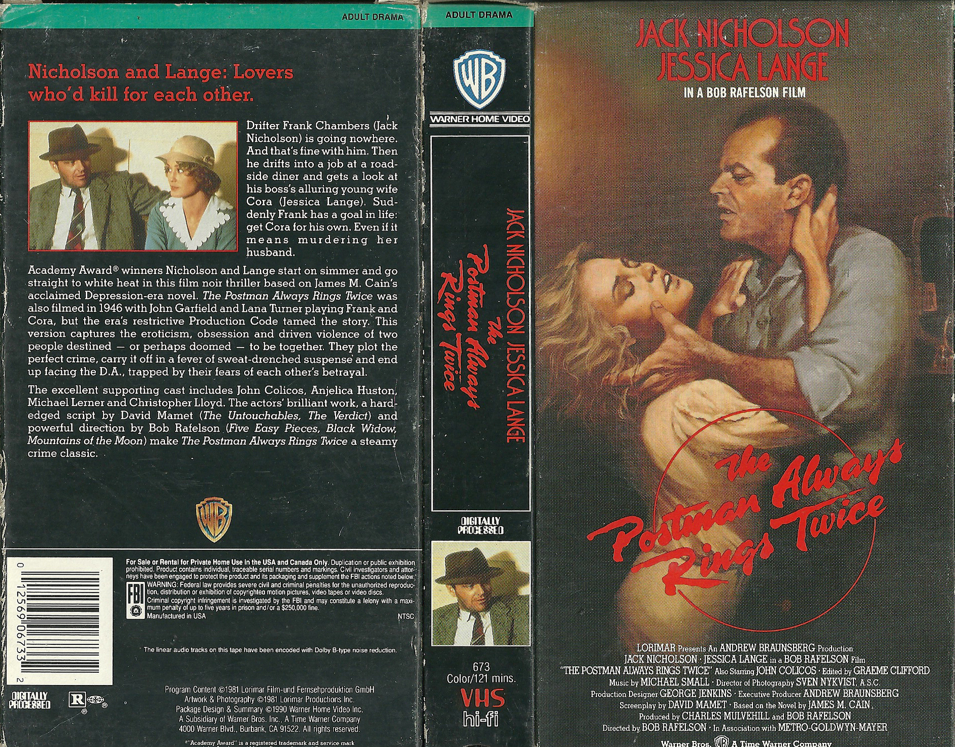 The postman always rings twice 1981 2