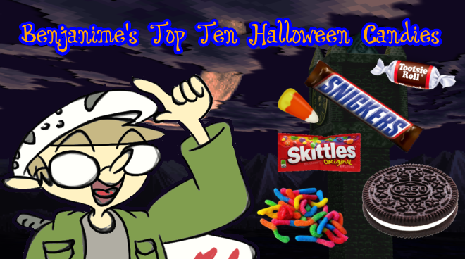 but with those days gone for me id like to share my top ten personal favorite candies that i got or as id like to call it - Top Ten Halloween Candies