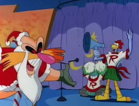 besides sonic being the focus of the episode theres also a lone young boy who curiously takes part in wanting a gift only for robotnik to want the boy to - Sonic Christmas Blast